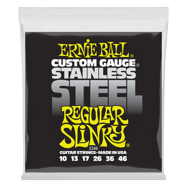 Ernie Ball 2246 Stainless Steel Regular Slinky 10-46 Saitensatz