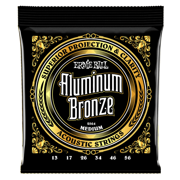 Ernie Ball 2564 Aluminum Bronze Medium 13-56 Saitensatz