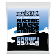 Ernie Ball 2802 Flatwound Group I Bass 55-110 Stainless Steel Saitensatz