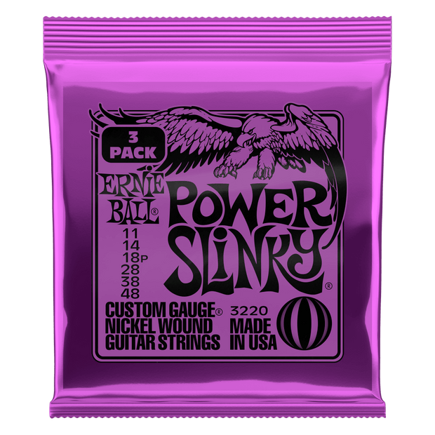 Ernie Ball 3220 Power Slinky 11-48 Nickel plated Steel Saitensatz 3er-Pack