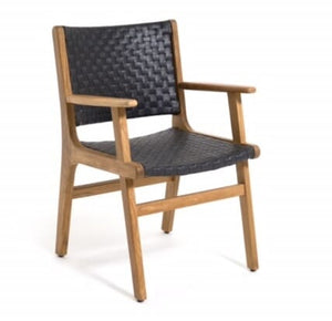 Hagen Armchair, Extra Wide, teak frame/All Weather Leather, Java