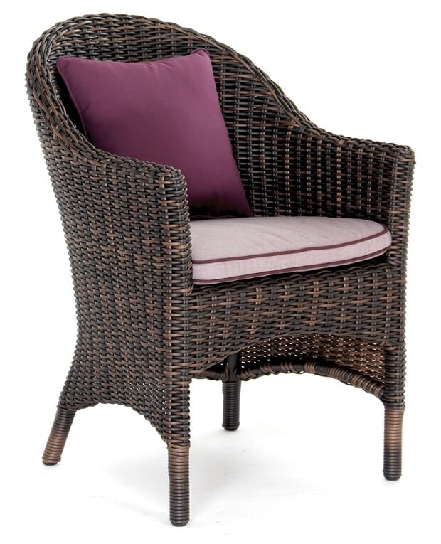 San Marino Arm Chair, Rustic Cocoa (cushions additrional)