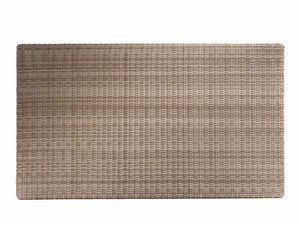 "Rectangular Tabletop 51 x 24"", Woven Top - (Glass Additional), Driftwood - (with MESH)"