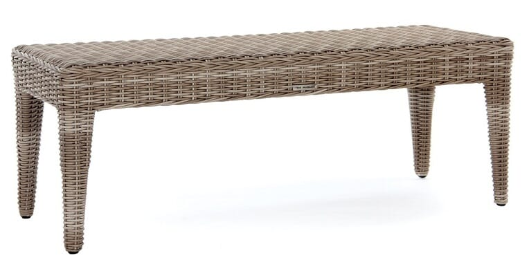 Napoli Backless Bench, Driftwood
