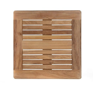 "Square Tabletop 22"", Teak (No Hole), w border"