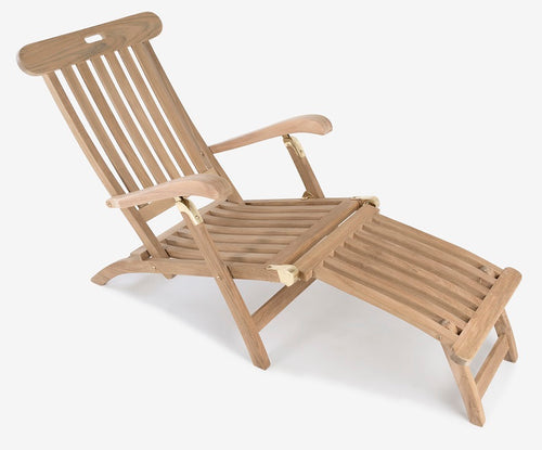 Keywest Steamer Lounger with removable footrest
