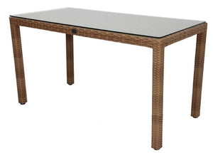 "Valencia Rectangular Dining Table - 55 x 28"", (glass additional), Removable Legs, with Mesh underneath"