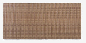"Rectangular Tabletop 51 x 24"", Woven Top - (Glass Additional), Natural (star)"