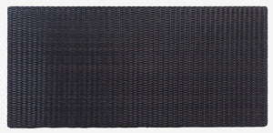 "Rectangular Tabletop 51 x 24"", Woven Top - (Glass Additional), Java"