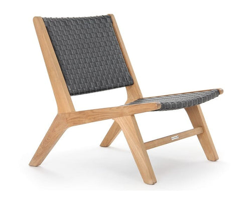 Hagen Club Side Chair, teak frame/All weather leather Java