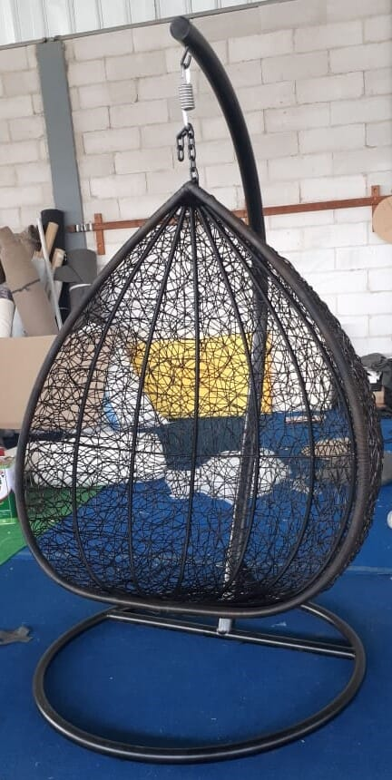 Corsica Nest Swing, with hardware (Incl Frame), bird Nest Weave (Cushion additional)