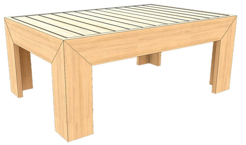 Denver Coffee Table, Rect 47x24in