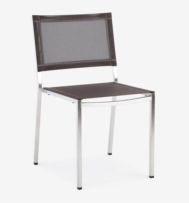 Firenze Sidechair, Stainless and Batyline Sling (Java 5048)