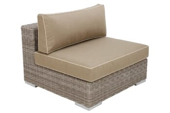 Tobago Center Module, Single -- Seat/Back cushion, 2-piece, Heather Beige Sunbrella, 5