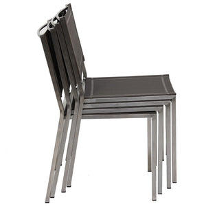 Firenze Sidechair, Stainless and Batyline Sling