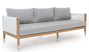 "Oslo 3S Sofa (81""), (1 PCE Seat, 3 piece Bank) 5"" QDF seat, Dacron Fill, Heather Beige 5476"