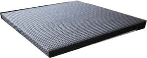 "Square Tabletop 31"", Woven Top - (Glass Additional), Java"