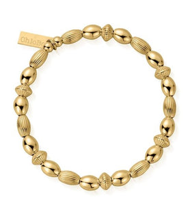 ChloBo Sterling Silver/Gold plated  Mini Oval Disc Layering Bracelet