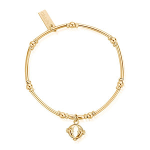 ChloBo Sterling Silver/Gold Plated Double Moon Bracelet