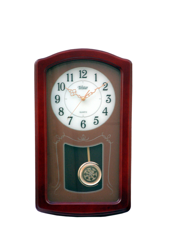 Telstar Wooden Quartz Chiming Wall Clock