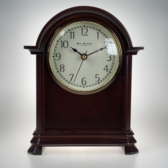Wm Widdop Quartz Wooden Mantle Clock