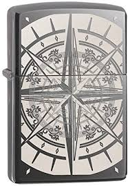 ZIPPO BLACK ICE  LASER ENGRAVE COMPASS LIGHTER