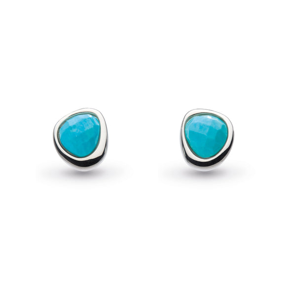Kit Heath Coast Pebble Reconstituted Turquoise Mini Stud Earrings