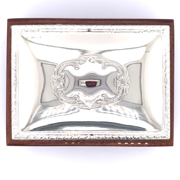 Sterling Silver Wooden Trinket Box