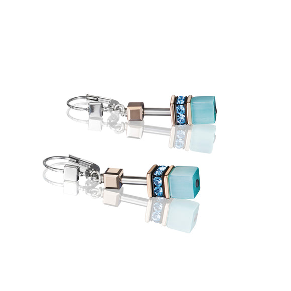 COEUR DE LION GeoCUBE® Earrings aqua