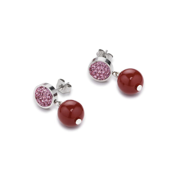 COEUR DE LION Earrings Pink Carnelian