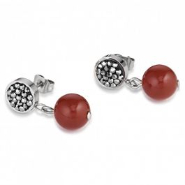COEUR DE LION Earrings Hematite Carnelian