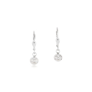 COEUR DE LION Earrings Stainless steel ball & crystals pavé crystal