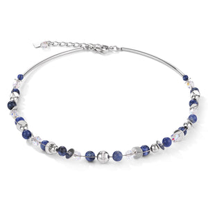 COEUR DE LION Necklace TwistedPEARLS sodalite & stainless steel blue