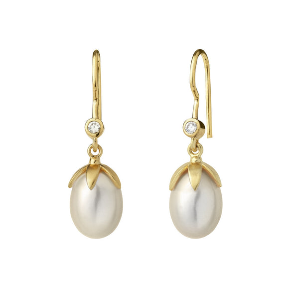 BY BIEHL LA PERLE EARRINGS - WHITE PEARL