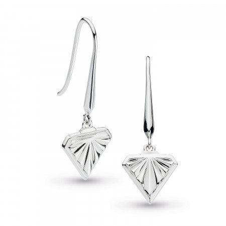 Kit Heath Empire Deco Diamond Shape Drop Earrings