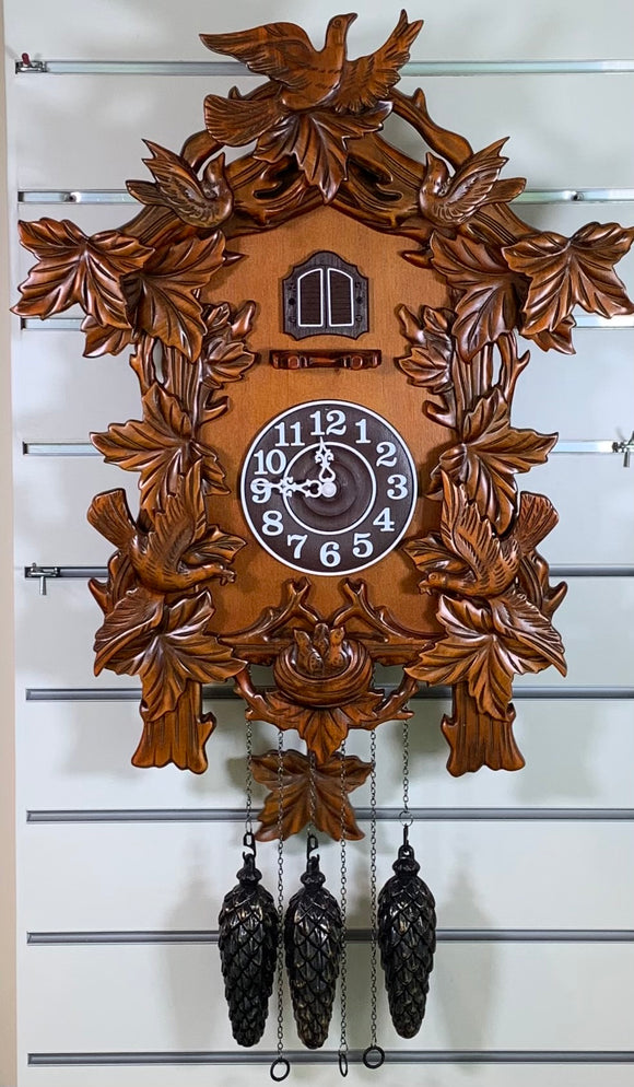Large Quartz Cuckoo Clock with Woodland Scene