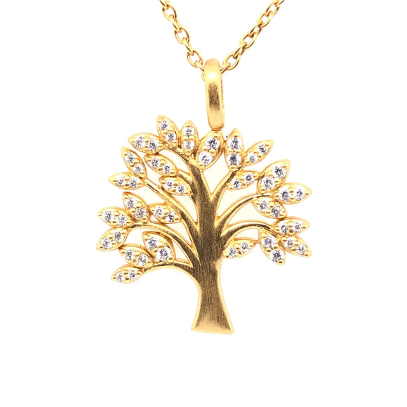 BY BIEHL TREE OF LIFE SPARKLE PENDANT