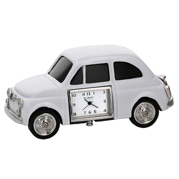 Miniature White Car Clock