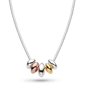 Kit Heath Coast Tumble Quinate Gold, Rose Gold Plate Necklace