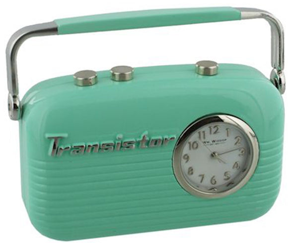 Miniature Green Vintage Radio Clock