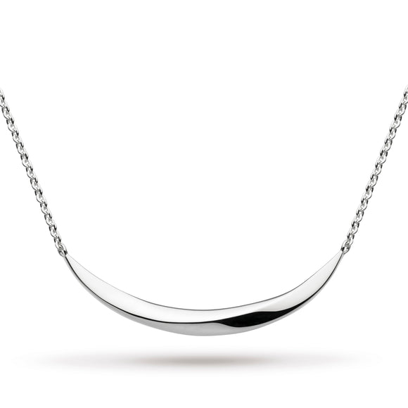 Kit Heath Bevel Curve Small Bar Necklace