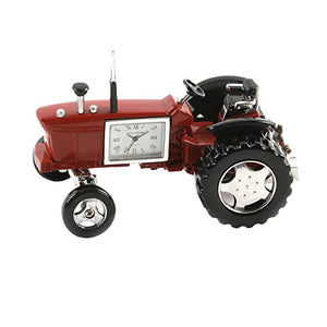 Miniature Red Tractor Clock