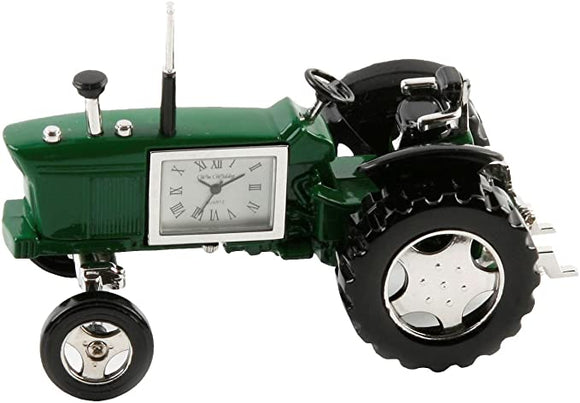 Miniature Green Tractor Clock