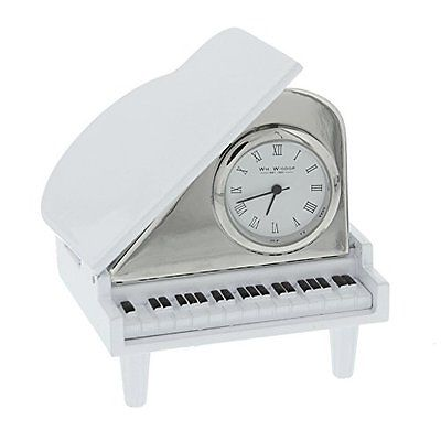 Miniature Grand Piano Clock