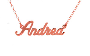 9ct Rose Gold Name Pendant