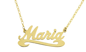9ct Yellow Gold Name Pendant
