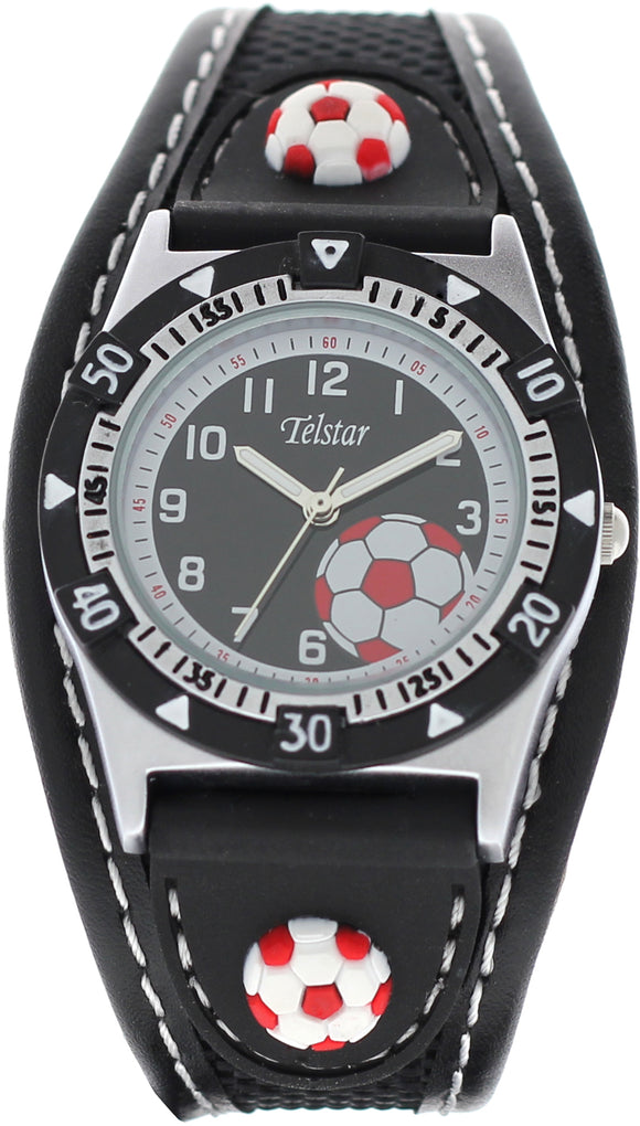Telstar Boys Black Football Watch