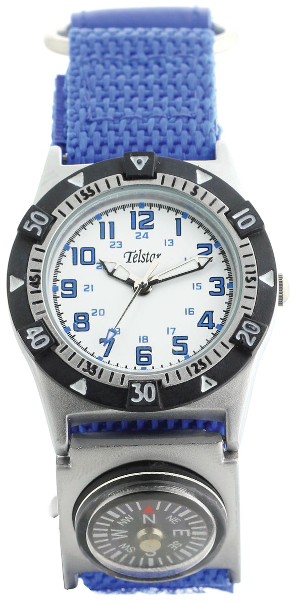 Telstar Boys Blue Compass Watch
