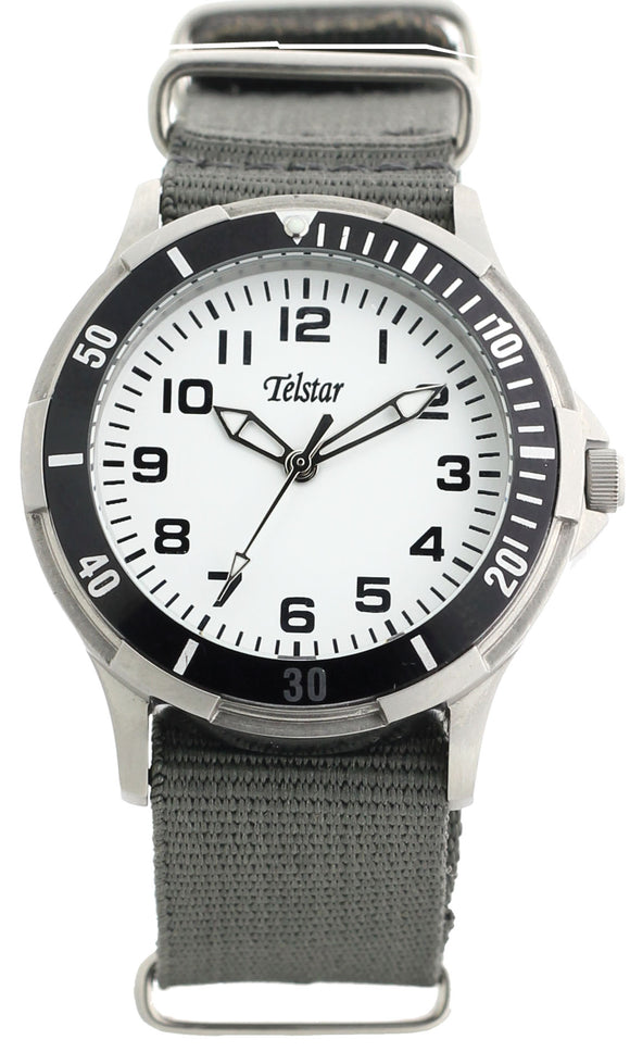Telstar SS Boys Grey Nato Watch