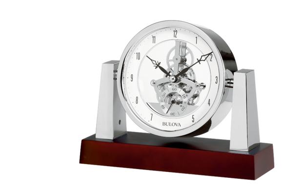 Bulova Largo Skeleton Mantle Clock